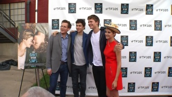"Fans Line Up to See ""The Fault in Our Stars"" Actors"