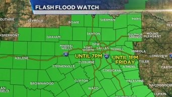 Flash Flood Watch in North Texas Extended to Friday