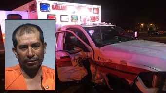 Garland Ambulance Hit by Suspected Drunk Driver