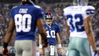 Cowboys Lead Giants At Half, 17-15