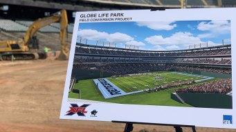 Field Reconfiguration of Globe Life Park Underway
