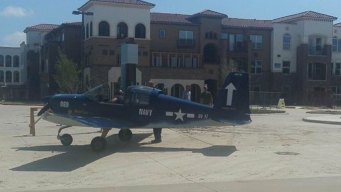 Small Plane Lands Safely in Grand Prairie Parking Lot