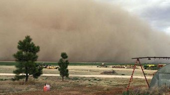 Dust Storm 100 Miles Wide Blankets Much of Panhandle