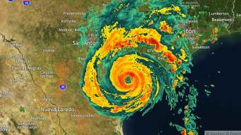 Hurricane Harvey Moves Inland Along TX Coast