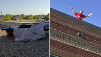 North Texas Principal Spends Night on School Roof