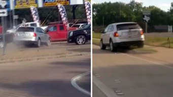 Series of Hit-and-Run Crashes Captured on Video in Fort Worth
