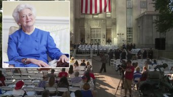 Thousands Honor Former First Lady Barbara Bush Friday