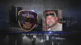 Procession for Slain Fort Worth Officer Garrett Hull