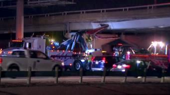 1 Hurt After Big Rig Crashes into I-30 Bridge in Dallas
