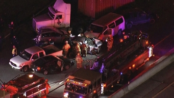 I-35E in Dallas Reopens After Multiple-Vehicle Crash