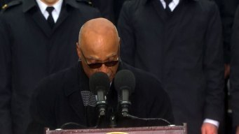 Rev. Zan W. Holmes, Jr. Reads Closing Prayer at JFK Ceremony