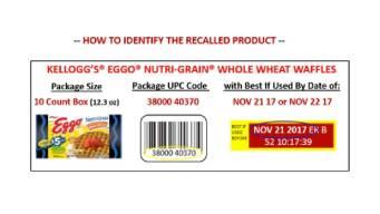 Listeria Fears Spur Whole Wheat Eggo Recall