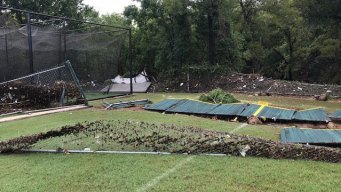 Flash Flooding Destroys Little League Fields in Fort Worth
