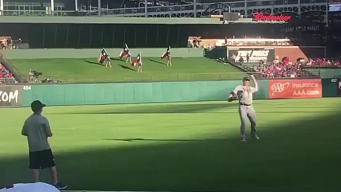 Rays OF Brings Boy Onto Field at Globe Life to Play Catch