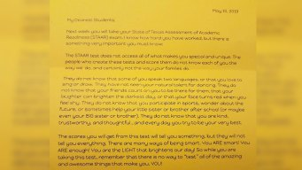 #SomethingGood: Letter Encourages 3rd Graders Before STAAR