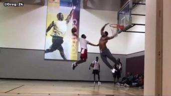 Myles Garrett Shows Off Athleticism on Basketball Court