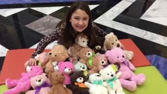 Aledo Girl Donates Teddy Bears to Comfort Children