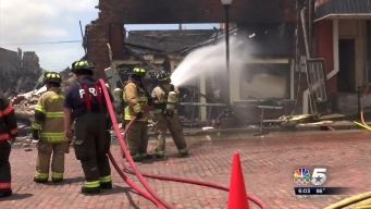 Fire Erupts Through Buildings in Farmersville