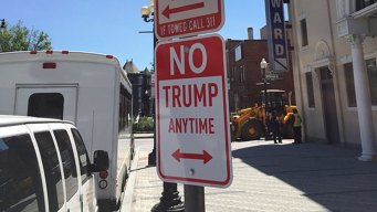 'No Trump Anytime' Signs Crop Up From London to LA