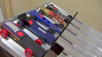 Pinewood Derby Races Down Fort Worth Streets