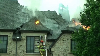 Lightning Sparks Two Fires in House Plano