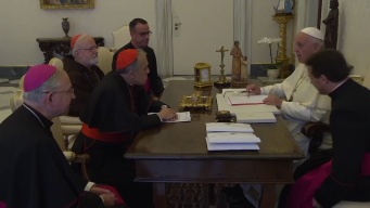 Pope Francis Meets With Clergymen to Discuss Scandal