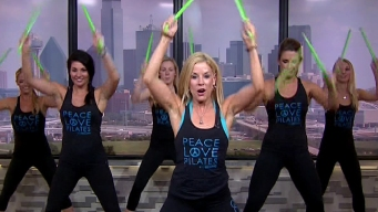 Fitness Group Demonstrates 'Pound' Class