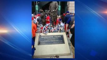 Rangers Fan Memorial Gets Trashed