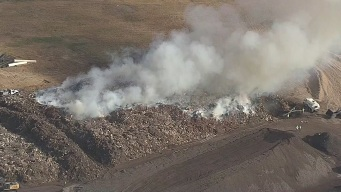 Raw: Fire Burns Large Compost Pile in SE Fort Worth