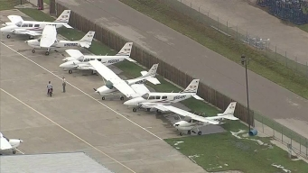Sky Ranger Surveys Damage at Denton Airport
