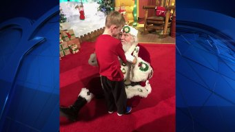 Child With Autism Meets Santa for the First Time