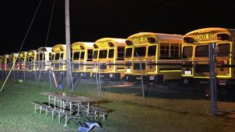Little Elm Buses Damaged in Hail Storm