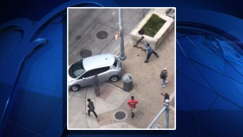 Scooter Thrown Through Windshield During Austin Street Fight