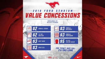 SMU Offering New 'Value Concessions' Pricing at Ford Stadium
