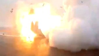 SpaceX Rocket Bursts Into Flames