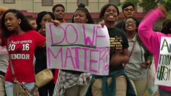 Spruce Students Walk Out, Protest Lack of Teachers