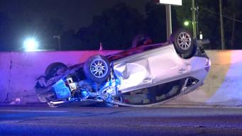 1 Hurt in Chain Reaction Crash on Stemmons Freeway
