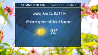 Summer Begins Tuesday Night; Temps to Warm Up