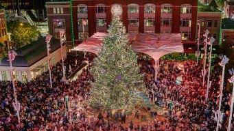 Fort Worth's Christmas Tree Lights Up Sundance Sq. Nov. 23