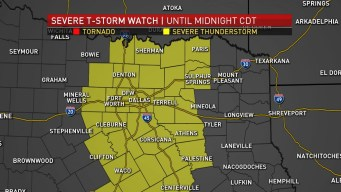 Severe Thunderstorm Watch in Effect Until Midnight
