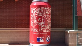 Budweiser Unveils Rangers-Themed Beer Can