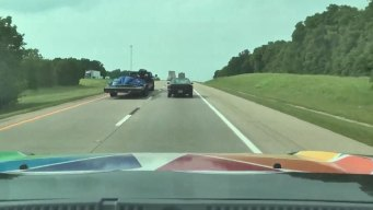 Texas Lightning Truck Tracking Storms Along Red River