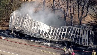 1 Dead in Fiery Tractor-Trailer Crash in Waxahachie