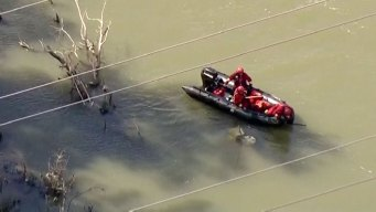 Vehicle Spotted Submerged in Trinity River in Dallas