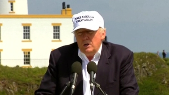 Donald Trump Talks Brexit in Scotland
