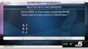 Weather Quiz: Since 2000, How Many Years has NTX had Tornado Events in December?