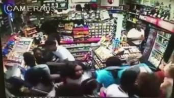 Security Cameras Show Mob Robbing Store