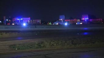 Westbound SH 183 Blocked By High Water in Irving