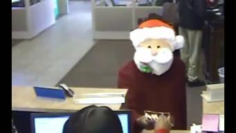 Man with Santa Mask Robs Bank