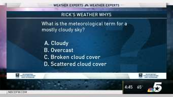 Weather Quiz: Terminology for a Mostly Cloudy Sky